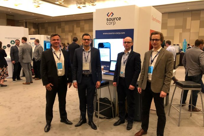 Source Corp exhibits @ Anaplan hub in Las Vegas